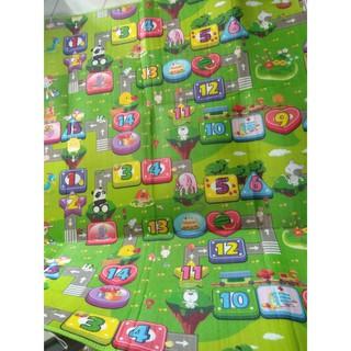 Thảm chơi 2 mặt cho bé Maboshi với thiết kế màu sắc bắt mắt, hình ảnh ngộ nghĩnh KP60758