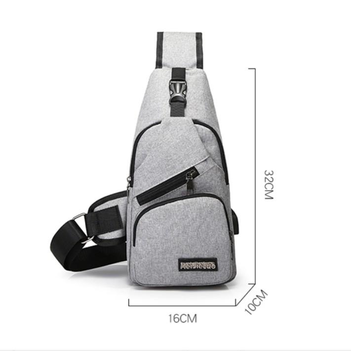 Túi đeo chéo nam Unisex phong cách Hàn Quốc - Túi chéo nam TC01