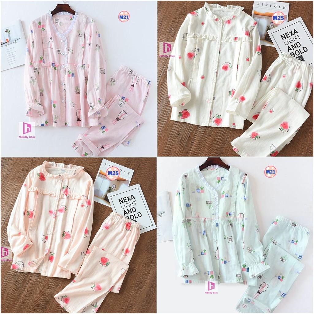 Mặc gì đẹp: Ngủ ngon hơn với Pijama Sau Sinh (Thô Đũi) Mặc hè cực mát M3