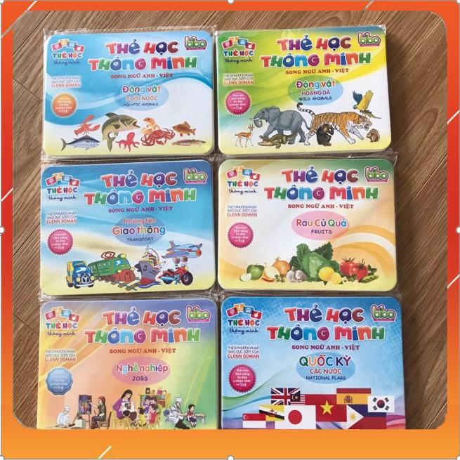 Bộ thẻ học THÔNG MINH flashcards SONG NGỮ 13 chủ đề cho bé.