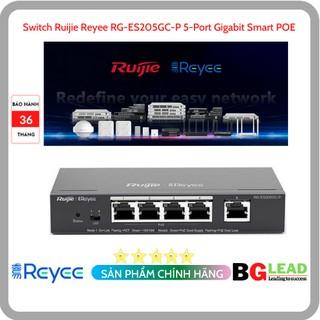 Thiết bị mạng Switch Ruijie Reyee RG-ES205GC-P 5-Port Gigabit Smart POE thumbnail