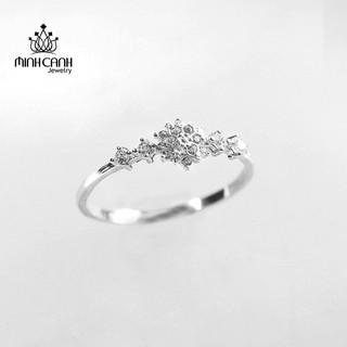 [Mã FASHIONGREEN94 giảm tới 30K đơn 99K] Nhẫn Bạc Hình Hoa Tuyết Đính Đá Sang Trọng - Minh Canh Jewelry thumbnail