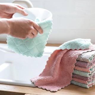 Combo 10 khăn lau đa năng 2 mặt siêu thấm nước kích thước 25x15cm thumbnail