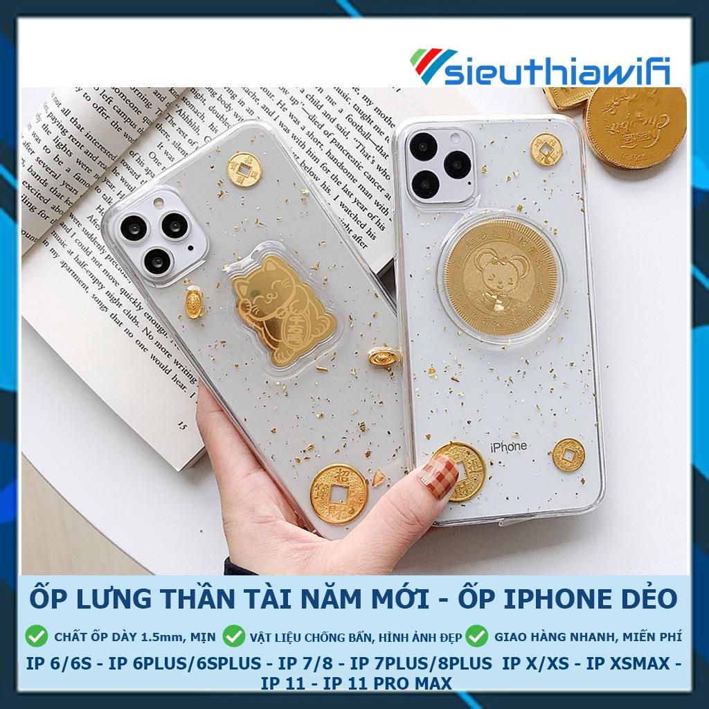 [ Full Kho ][FREESHIP ĐƠN TỪ 50K TOÀN QUỐC ] ỐP LƯNG 3D THẦN TÀI NĂM MỚI ( HÌNH NỔI ) - ỐP IPHONE DẺO MỊN [ D4-5 ]