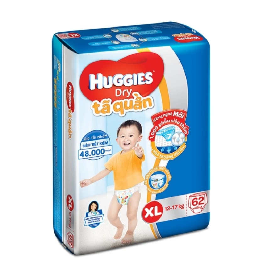 Tã quần Huggies XL62 (Mẫu mới) - 2582682 , 177888155 , 322_177888155 , 366000 , Ta-quan-Huggies-XL62-Mau-moi-322_177888155 , shopee.vn , Tã quần Huggies XL62 (Mẫu mới)
