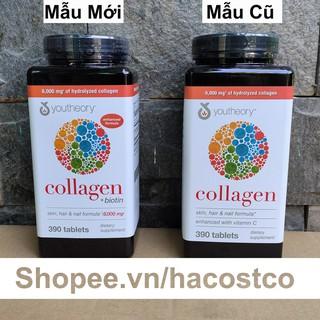 Viên Uống Youtheory Collagen Advanced 390 Viên collagen Type 1,2&3 – Mẫu mới
