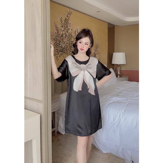 Mặc gì đẹp: Thoải mái với  Váy Ngủ Lụa Cao cấp ( Ảnh chụp thật ) Cổ tròn