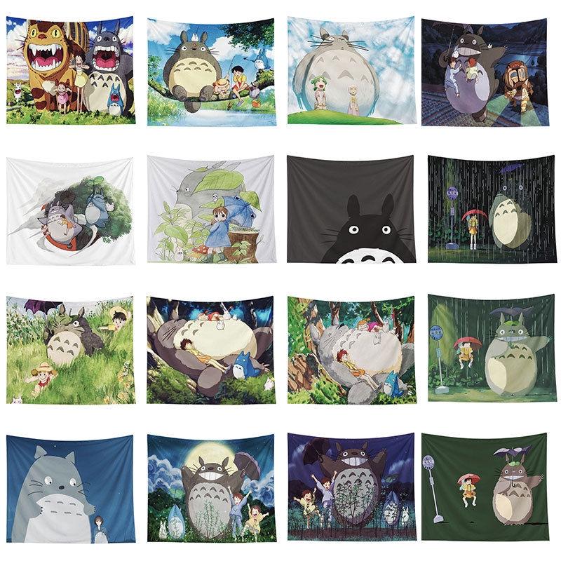 Thảm Treo Tường Trang Trí Phòng Ngủ Hình Totoro Đáng Yêu