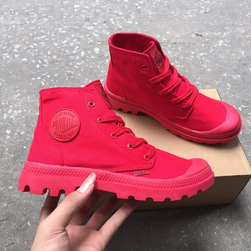 [FREE SHIP + KÈM HỘP] Giày Puidallam màu Đỏ Full (aev Palladium)