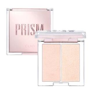 "CLIO – Prism Highlighter Duo #1 ""Cream Fizz""   bảng phấn bắt sáng 2 ô màu ""Cream Fizz"""