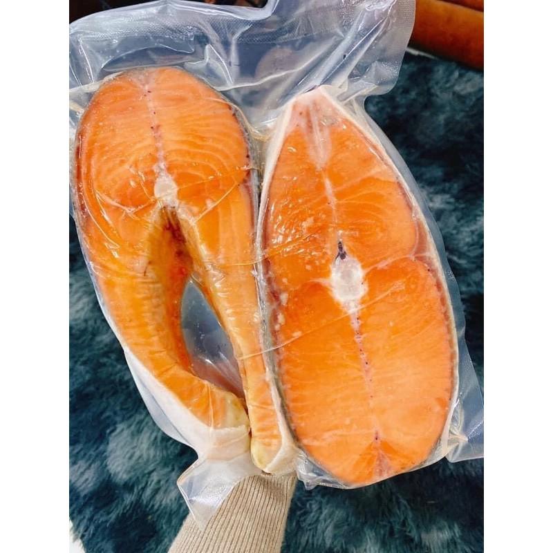 Cá hồi cắt khúc Nauy hút chân không 1kg