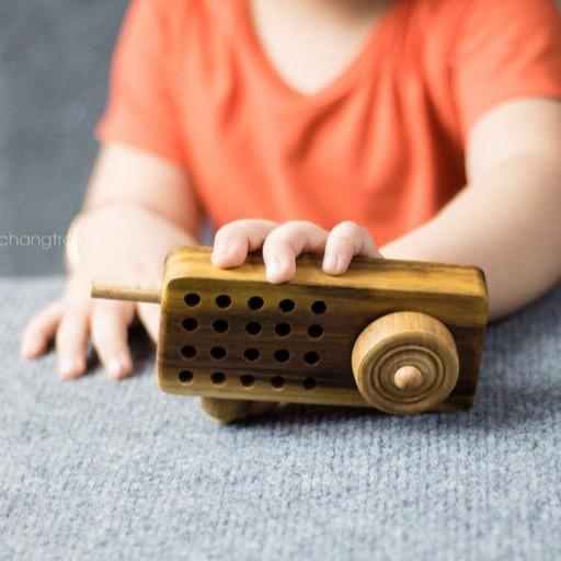 Đồ chơi chỗ cho bé – Bộ đàm chất liệu gỗ tự nhiên an toàn cho bé CHÀNG TRAI GỖ