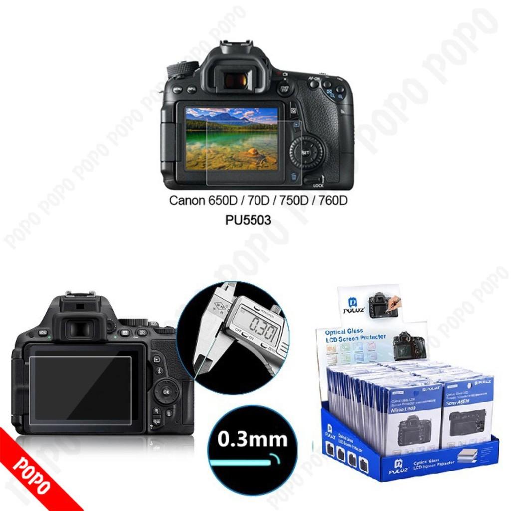 Miếng dán màn hình máy ảnh cường lực Cannon 650D/70D/750D/760D