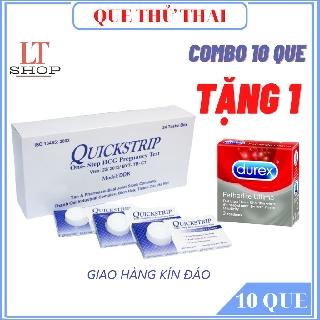 QUE THỬ THAI MUA 10 QUE TẶNG NGAY 1 HỘP BAO CAO SU
