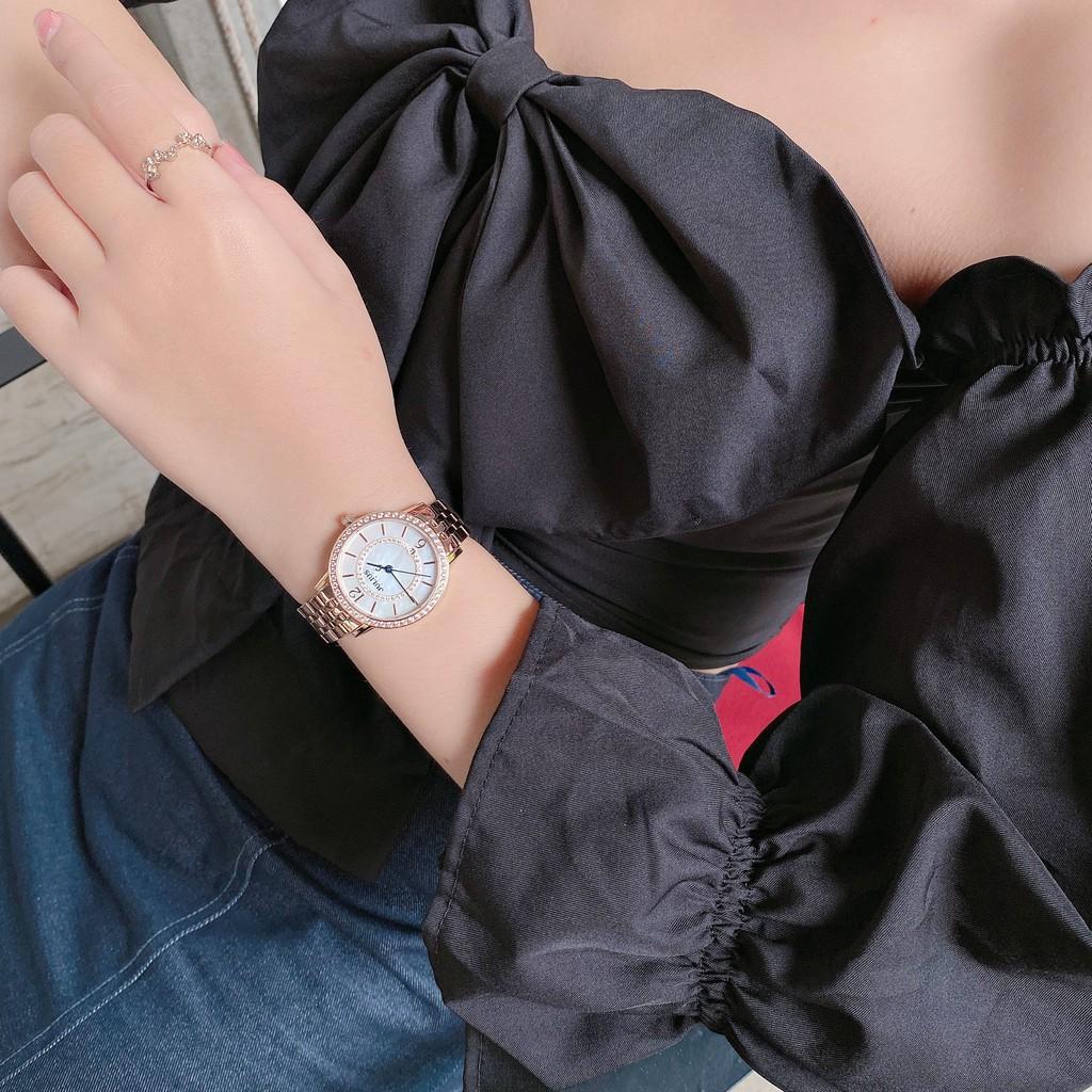 Đồng Hồ Nữ2990 Julius Hàn Quốc Kính Sapphire