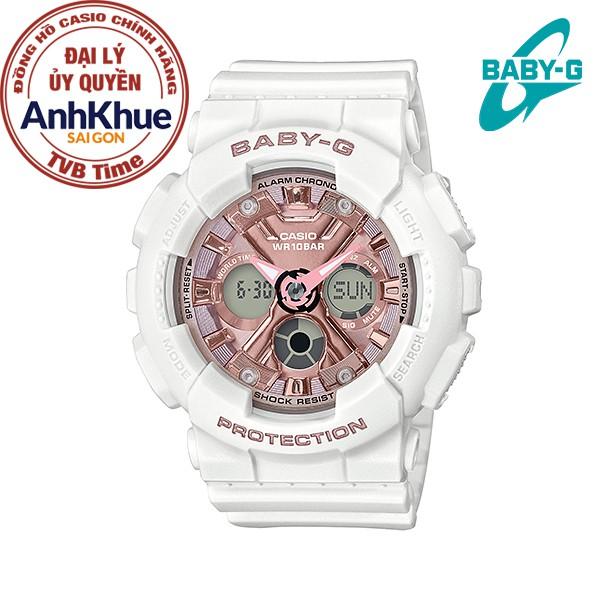 Đồng hồ nữ dây nhựa Casio Baby-G chính hãng Anh Khuê BA-130-7A1DR
