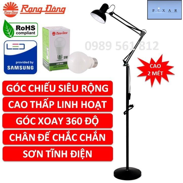 Đèn cây Pixar cao 2 mét, Bóng LED 5W Rạng Đông, ChipLED Samsung