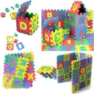 Thảm xốp 36 miếng mini chữ và số cho bé vui và học