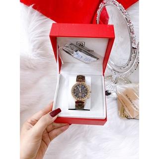 Đồng hồ lv nữ dây da nâu kiểu dáng thời thượng sang trọng, chống nước , bảo hành 12 tháng