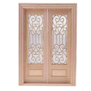 Mô hình cánh cửa rộng bằng gỗ 1 12 cho nhà búp bê