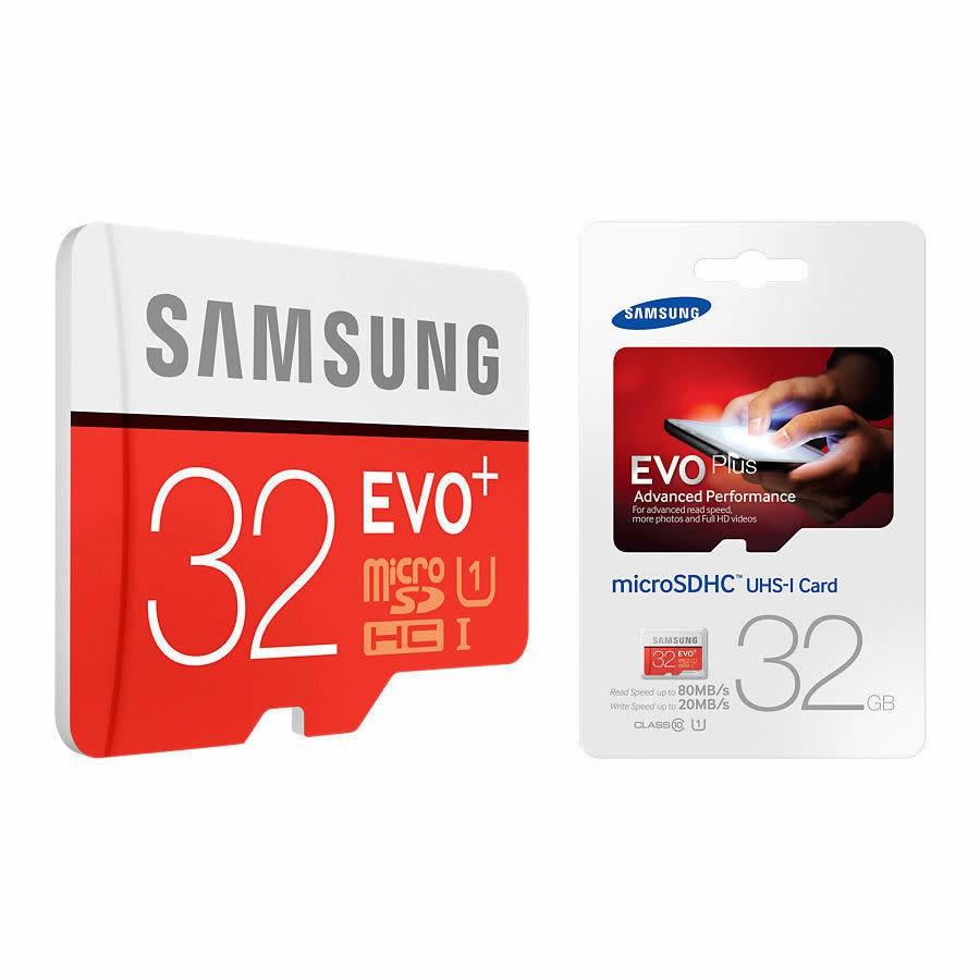 Thẻ nhớ Samsung Evo Plus 32G 95MB/s (tặng kèm 1 đầu đọc thẻ nhớ)
