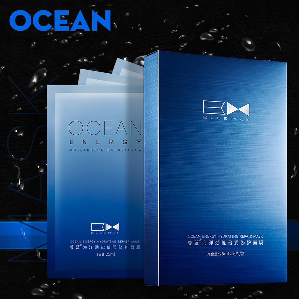 MẶT NẠ DƯỠNG DA OCEAN BLUEMAN TRỊ MỤN KHÍT LỔ CHÂN LÔNG 25ml x 6 miếng ZL15020550