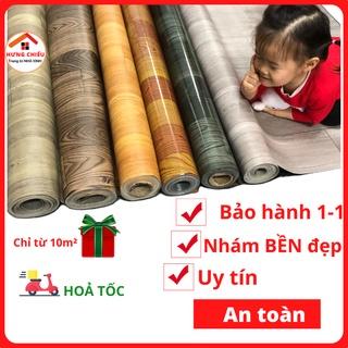 [Mã 1010LIFESALE10K giảm 10% đơn 50k] Simili trải sàn vân gỗ miếng thảm nhựa lót nền giả gỗ pvc nhám chống trơn trượt