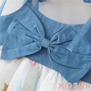 Đầm Yếm Denim Cho Bé Gái