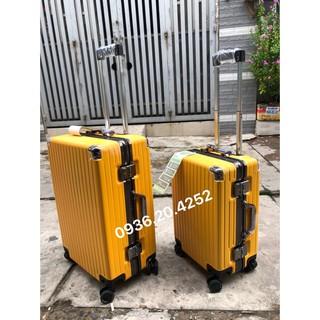 Bộ vali kéo du lịch khung nhôm khoá sập TSA vali kéo du lịch nam nữ rẻ.Chống bể vỡ, xước, bánh xe xoay 360 thumbnail