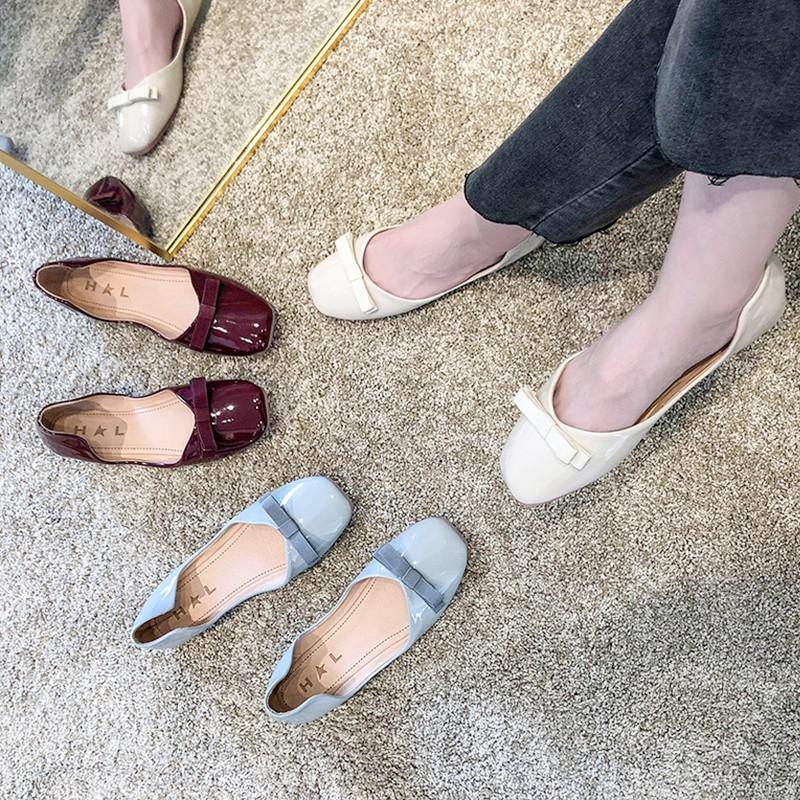 Đôi giày búp bê bít mũi vuông phối nơ thời trang cho nữ - 14257776 , 2410627453 , 322_2410627453 , 245300 , Doi-giay-bup-be-bit-mui-vuong-phoi-no-thoi-trang-cho-nu-322_2410627453 , shopee.vn , Đôi giày búp bê bít mũi vuông phối nơ thời trang cho nữ