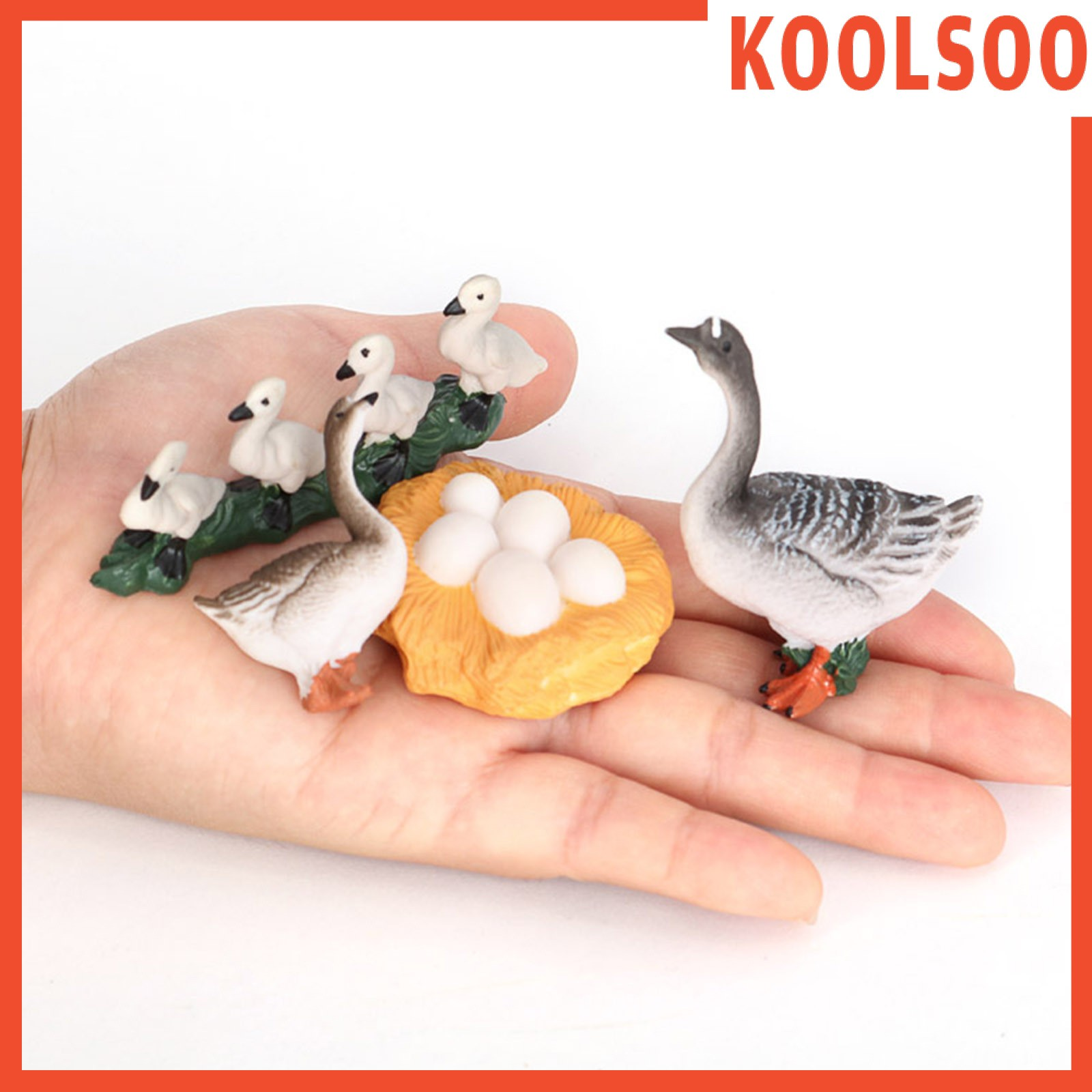 [KOOLSOO] Plastic Lifelike Goose Growth Cycle Model Life Cycle Animal Model Kids Toys