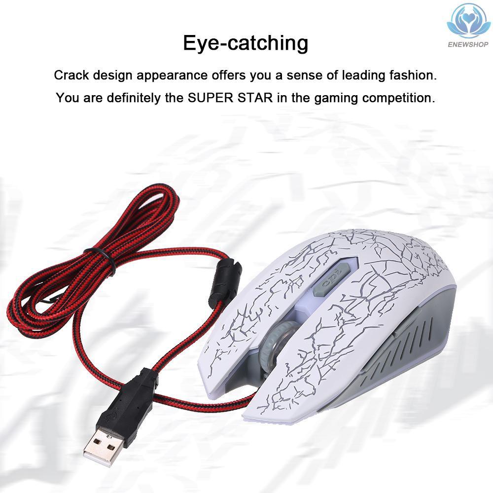 Chuột Chơi Game Có Dây Rgb Cổng Usb Màu Trắng Cho Pc / Laptop