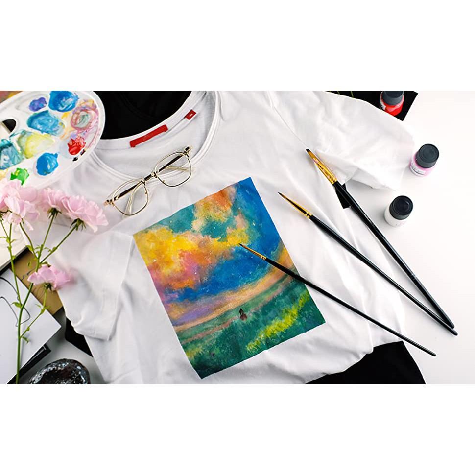 Màu vẽ vải Mont Marte - Fabric Paint 12 màu 20ml ( Hàng Chính Hãng )