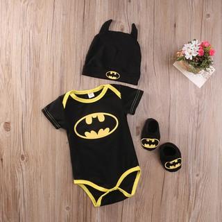 Set đồ liền thân + giày + Mũ cho bé trai sơ sinh