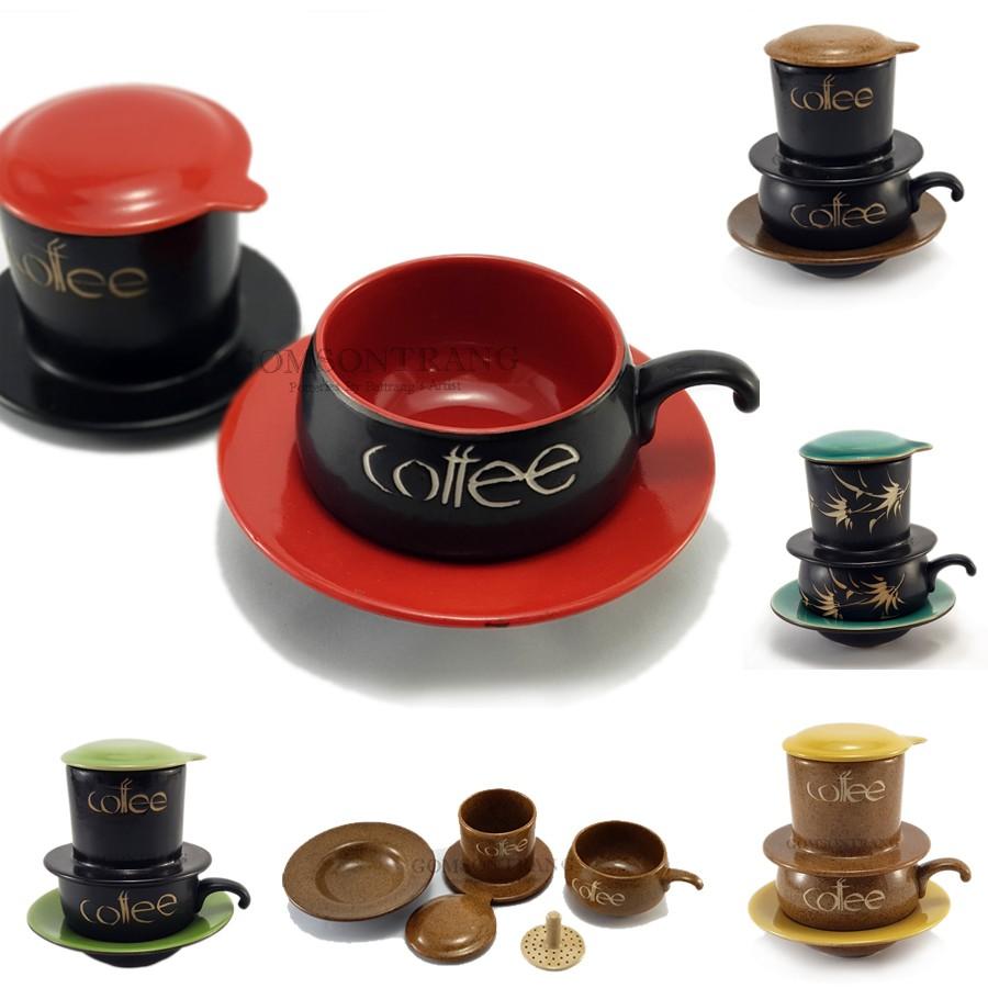 Phin pha cà phê sứ Bát Tràng nhiều mầu sắc