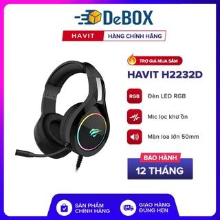 Giao hàng nhanh Tai Nghe Gaming Havit H2232D, Driver 50, LED RGB, Mic Khử Ồn, Đa Tương Thích - Chính hãng BH 12 Tháng thumbnail
