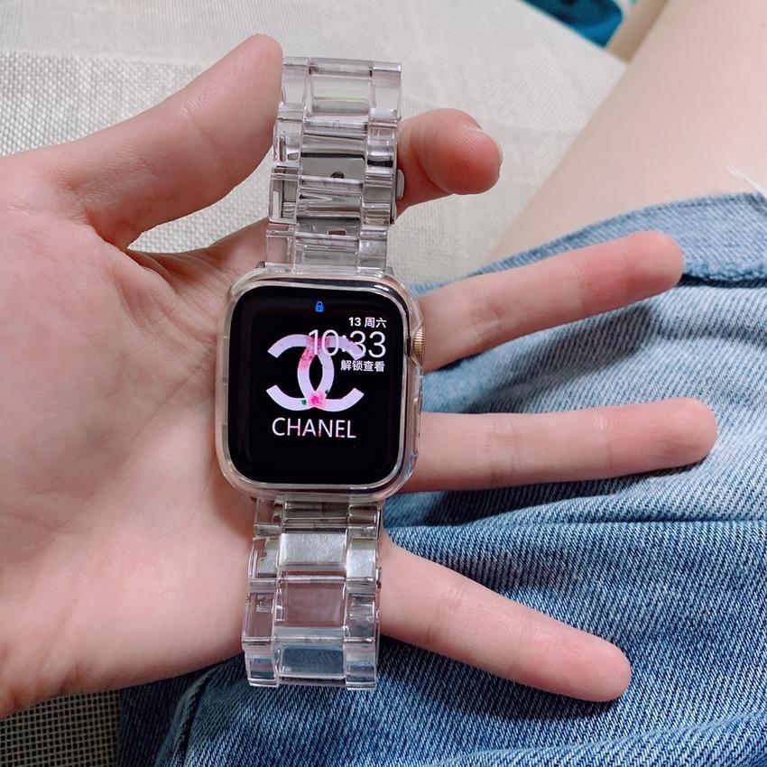 Dây Đeo Bằng Nhựa Trong Suốt Cho Đồng Hồ Thông Minh Apple Watch Series 6 SE 5 4 3 2 1 38mm 40mm 42mm 44mm
