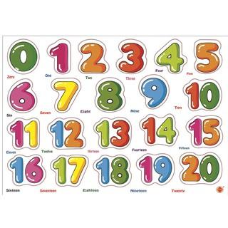 [Nhập mã TOY11FES10 giảm 10%]Bảng ghép gỗ bảng chữ số từ 0 – 20 Etic
