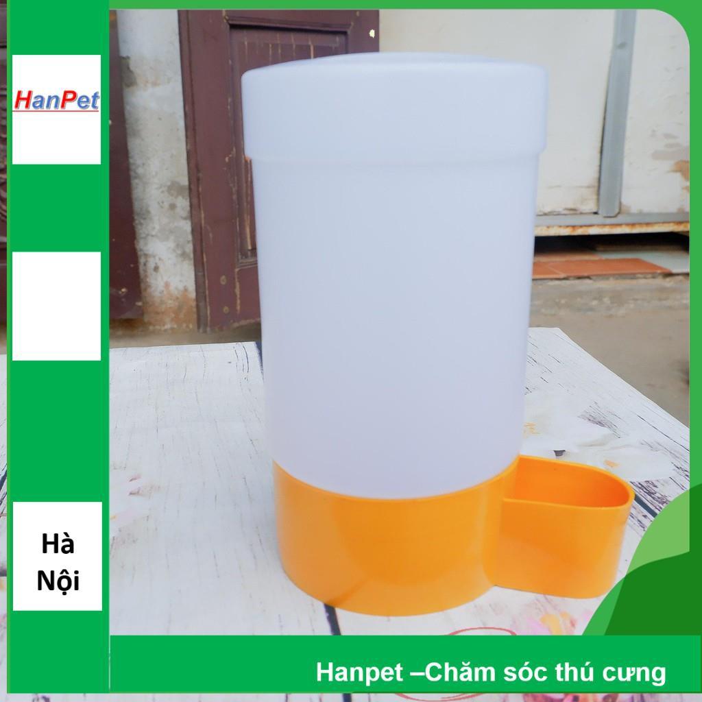 Bình uống nước gia cầm tự động cấp nước - Dạng trụ đứng đặt nền (18x10cm) - máng uống chim cảnh gà chọi, g