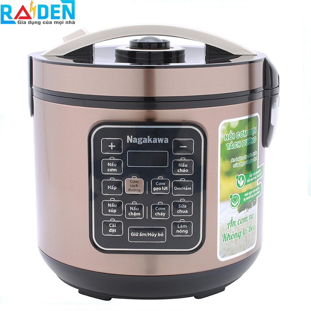 Nồi cơm điện tách đường 1.8L Nagakawa NAG0120 tốt cho người ăn kiêng và bệnh tim mạch, tiểu đường, cơm gạo lức