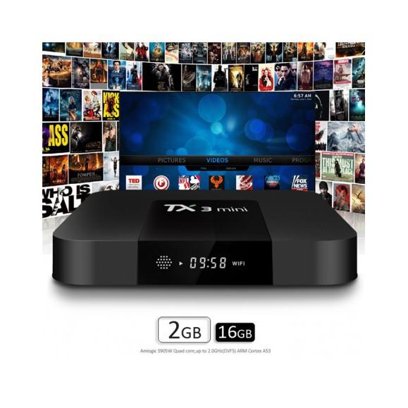 Tivi Box Android TX3 Mini Ram 2G- Rom 16G Bảo hành 12 tháng 1 đổi 1