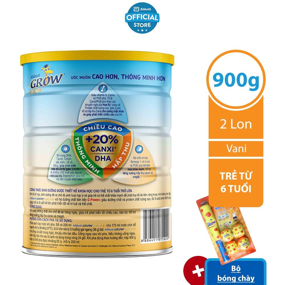 Bộ 02 lon Sữa bột Abbott Grow 6+ 900