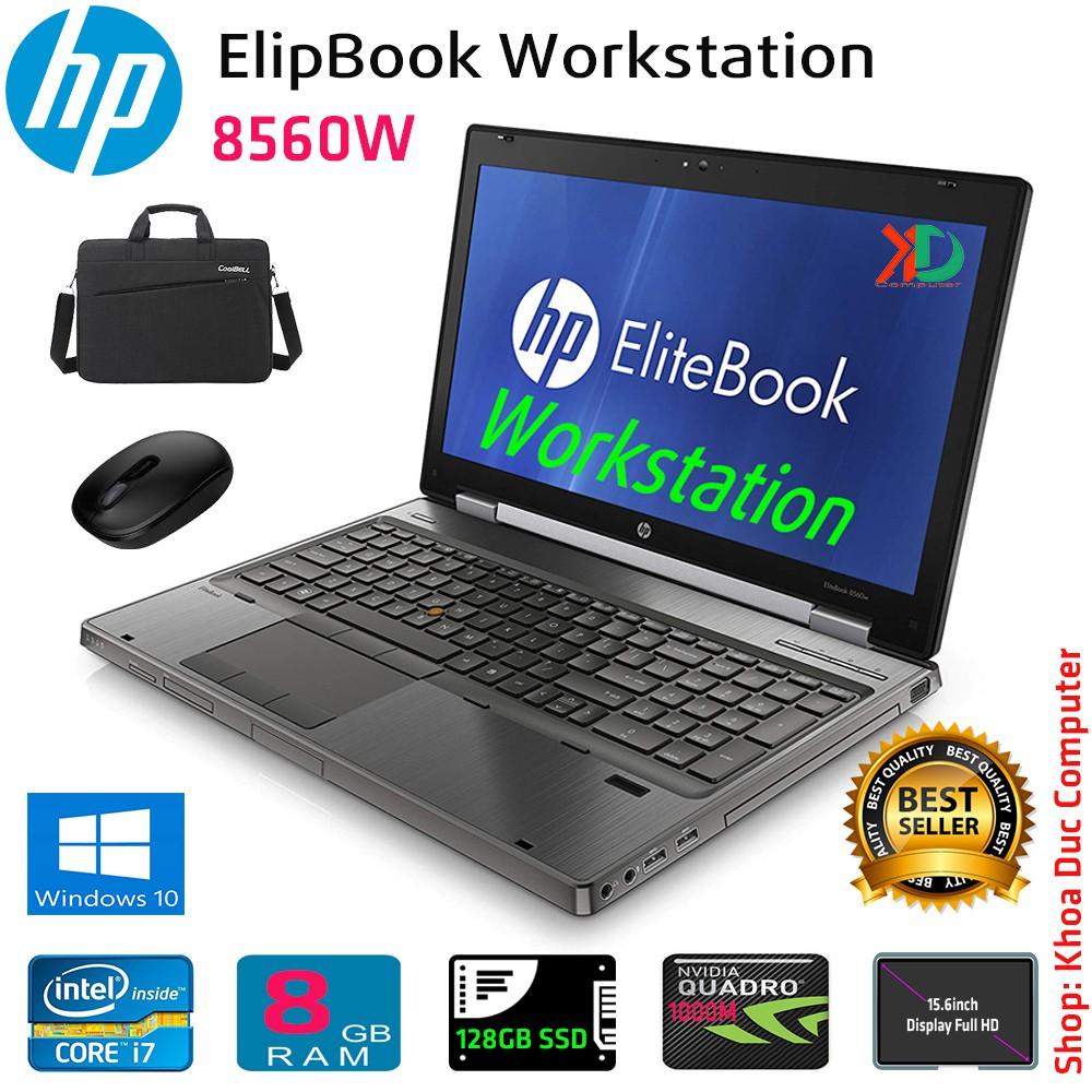 Laptop máy trạm workstation HP Elipbook 8560W Core i7-2620QM, 8gb Ram, 128gb SSD, vga quadro 1000M, 15.6inch Full HD