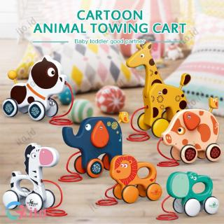 [2020 New] Dragging baby toddler toys to pull animal puppies giraffe baby early teaching walker toys ITO