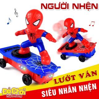 Đồ chơi trẻ em Người Nhện lướt ván – Siêu nhân nhện spiderman xoay 360 độ phát nhạc đồchơitrẻem
