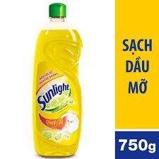 Nước rửa chén Sunlight Chanh chai 750g
