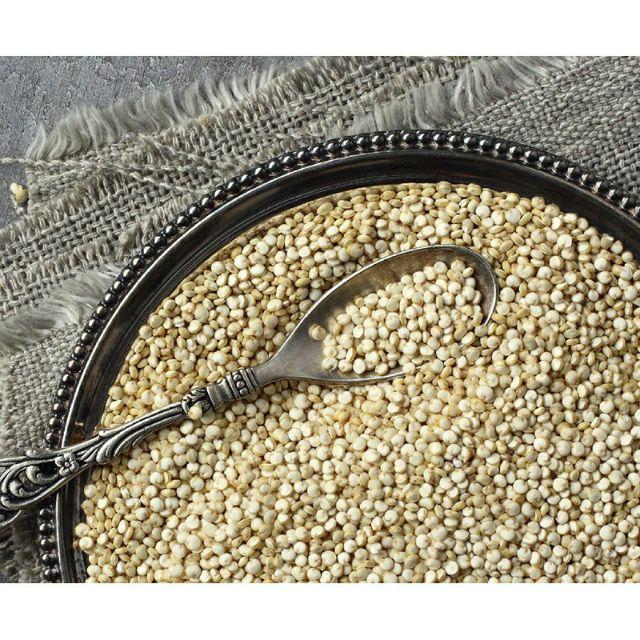 Hạt diêm mạch White Quinoa Úc tách túi zip 500g , date mới