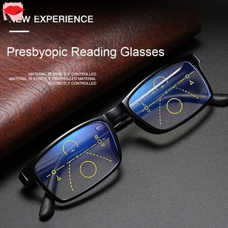 SOFTNESS Anti-fatigue Progressive Presbyopic Eyewear Radiation Protection Multifocal Bifocal Eyeglasses Anti Blue Light Reading Glasses Anti-UV Men Women Fashion Anti-blue Rays Retro Classic Computer Goggles/Multicolor