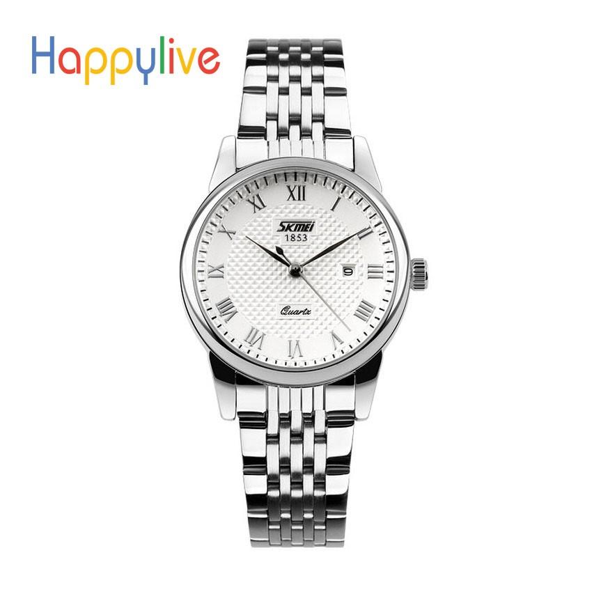 Đồng hồ nữ Skmei inox mặt trắng cực chất