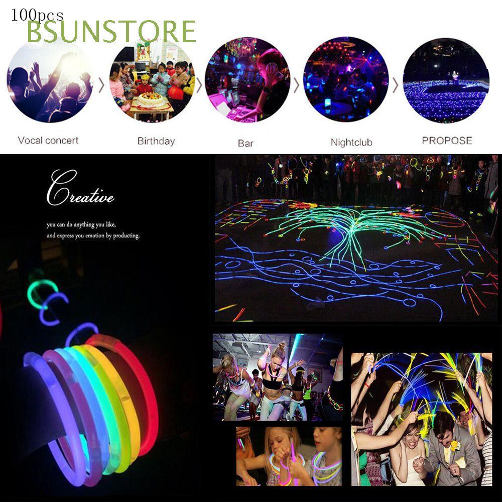 100pcs Magic Colorful Party DIY Weeding Fluorescence Sticks